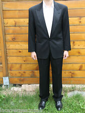 costume noir HUGO BOSS becaud/lido  veste T 48 (L) pantalon T 42 ** LUXE **