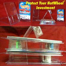 Hot Wheels 9 plastic  PROTECTORS stackable clam shell