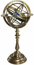 GL052 Bronze Armillary Dial Earth World Globe Desk Sphere Authentic Models NEW