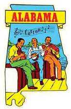 ALABAMA  Musicians   AL   Vintage Looking    Travel Decal Luggage Label Sticker