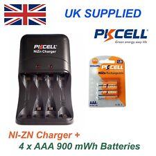 Ni-zn 4 X 1.6 v Aaa 900 MWh de alto rendimiento recharable Baterías Y Cargador Pack