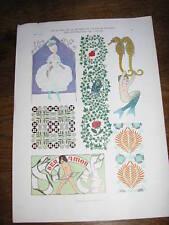 Planche du JOURNAL de la DECORATION  : idées motifs  Art déco par H. FRITSCH
