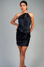 Mandalay Navy Blue Crystal Beaded Dress Size 10 $1075 SALE