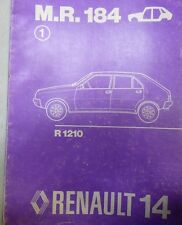 RENAULT R 14 R14 MANUEL REPARATION CARROSSERIE MR 183 PIECES REFERENCE DESSIN 76