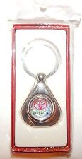 NEW TOYOTA CHROME METAL KEYCHAIN*QUALITY KEY RING AND GIFT BOX*CAR TRUCK LOGO AD