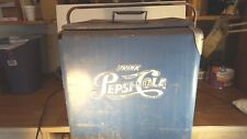 Antique Blue Pepsi - Cola Ice Cooler by Progress Refrigerator Co Louisville Ky