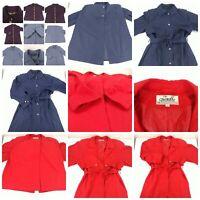 Lot 4 Women's Size Large 12 14 Long Trenchcoat Over Coat Jacket Red Blue Black