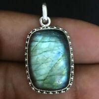 Labradorite Handmade 925 Sterling Silver Pendant Necklace For Women