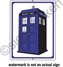 TARDIS BOOTH SIGN / ALUMINUM / MANCAVE DECOR, DR. WHO, DOCTOR, TIME TRAVEL