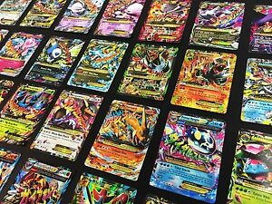 POKEMON TCG 50 Card Lot GUARANTEED GX, V, EX + 1 NEW BOOSTER PACK, RARES & HOLOS