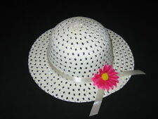 "NEW ""IVORY DAISY"" Dress Up Party Girls Easter Straw Hat Clothes Toddler Kid Tea"