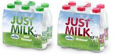 Candia Just Milk UHT Long Life Semi Skimmed Fresh Milk - Pack of 6 Bottles x 1L