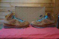 Nike Lebron 10 EXT QS Hazelnut Pale Blue Sail Size 10.5 (2938)