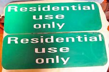 2 Residential Use Only Aluminum Street/Road/Traffic Sign Lot ~ 24 x 8 ~ S244