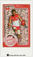 2010 AFL Herald Sun Cards Sharp Shooters Subset SS14 Adam Goodes (Sydney)