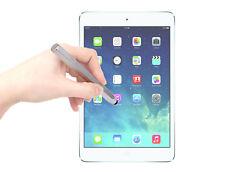 Miniature Silver Stylus w/ Soft Tip For iPad Air, Air 2 + Screen Protector