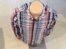 Elwood Long Sleeve Shirt Multi Blue Red White Size M Slim Free Post