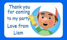 HANDY MANNY PERSONALISED GLOSSY CHILDREN'S PARTY STICKERS, SEALS LABELS