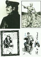 Tom of Finland 3 Finnish postal Stamps + 3 postcards, gay interest, sealed, MNH
