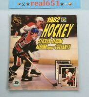 1982 O-Pee-Chee Hockey Sticker Album WAYNE GRETZKY Cover Near Empty Book 25/263