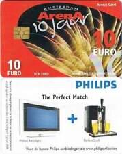 Arenakaart A072-01c 10 euro: 10 jarig Jubileum (metalliek)