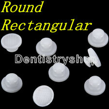 Dental Orthodontic Composite Ceramic Lingual Buttons Bondable Rectangular/Round