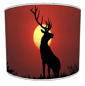 Hunting Scene Lampshades Ideal To Match Stag Home Decor, Deer & Stag Duvets