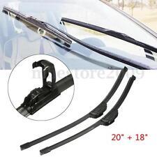 "Universal Car Window Windshield Wiper Blades J-HOOK 20"" & 18"" INCH"