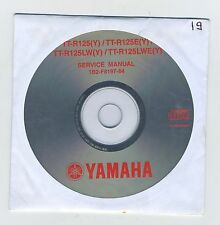 (CD19) CD MANUEL ATELIER YAMAHA TT-R125(Y)/TT-R125E(Y)/TT-R125LW(Y) et LWE  2009