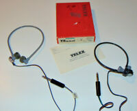 VINTAGE 1970s TELEX HFR-91 TELE-FI HEADSET WITH BOX! BONUS-CALRAD HEADSET 15-109