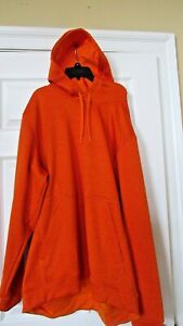 NWT Mens Athletic Adidas hoodie active wear Orange Climawarm sz 2XL