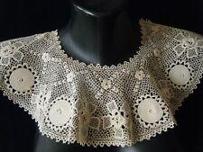 Old Silk Collar Combo Irish H Crochet  Lace Deco  design Europe