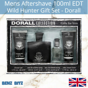 Wild Hunter Gift Set Mens Aftershave By Dorall 100ml EDT Eau De Toilette Spray