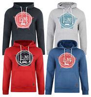 Smith & Jones Men's Hooded Sweatshirt Tavistock Fleece Hoodie Red Grey Blue Top