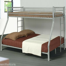 Denley Metal Twin over Full Bunk Bed Youth Bedroom Twin Size Bed in 2 Colors