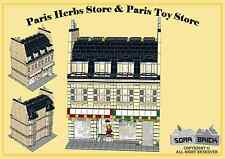 Custom instruction, consisting of LEGO elements - Paris Herb Store and Toy Store