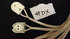 2 X Soporte para Lámpara Fluorescente T5 Cable de 1 metros Plomo Blanco 1 par vendedor del Reino Unido #DX
