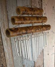 FENG SHUI BAMBOO/METAL GARDEN WIND CHIME - Handmade - 29cm long, fair trade!
