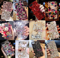 For Samsung S9 Plus Note 8 Luxury Bling Diamonds Rhinestones Jewelled Case Cover