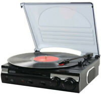 Jensen JTA-230 3-Speed Turntable with Speakers [New Turntable] Belt Dr