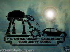 Star Wars El Imperio no Importa Tu Sh ** y Corsa coche grande calcomanía / etiqueta adhesiva