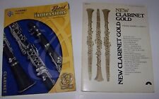 "Lot of 2 Clarinet Music Books - sc - ""Band Expressions"" - ""Clarinet Gold"""
