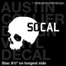 "6.5"" SKULL w/ SOCAL vinyl decal car truck laptop sticker - moto x fmx"