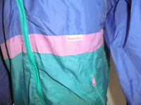 vintage Sportino Nylon Regenjacke glanz 80s oldschool Jacke 80er Jahre S/M