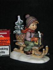 """Goebel Hummel 396/I """"Fahrt in die Weihnacht"""" Ride into Christmas Junge Schlitten"""