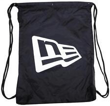 New Era Branded Gym Sack Black White OSFA Draw String Bag Backpack Turnbeutel