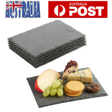 4X Slate Stone Dinner Plate Cheese Board  Serving Tray Platter Party Cafe Pub AU