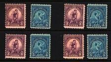 1932 Olympics Sc 718 719 MNH 4 sets of singles