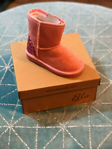 Ella Belle infants girls childrens winter boots