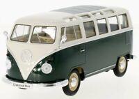 VW Volkswagen T1 Bus - 1963 - darkgreen / white - WELLY 1:24